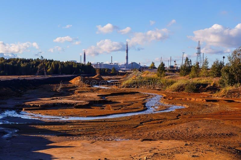 Промышленная пустыня - отава экологической катастрофы в Karabash, России стоковые фотографии rf