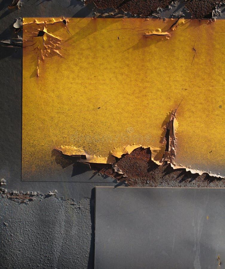 Промышленный залатанный конспект стали стоковые фото