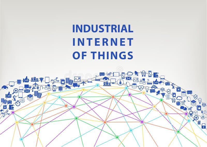 Промышленный интернет предпосылки иллюстрации вещей мир сети принципиальной схемы широкий бесплатная иллюстрация
