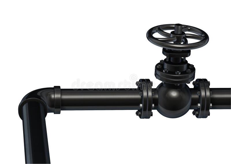 Промышленный клапан трубы Изолировано на белизне бесплатная иллюстрация