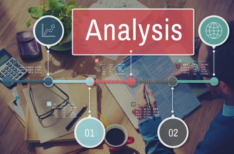 Проницательность данным по анализа соединяет концепцию данных стоковое изображение rf