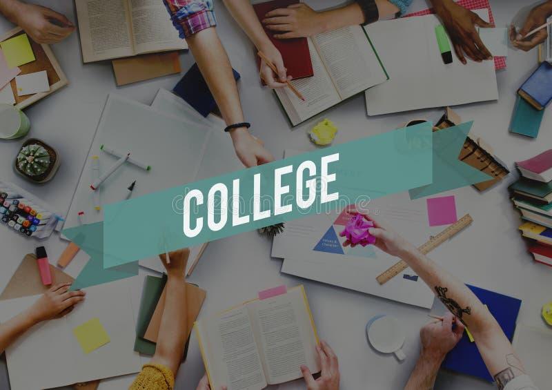 Проницательность знания образования в объеме колледжа изучая концепцию премудрости стоковые изображения rf