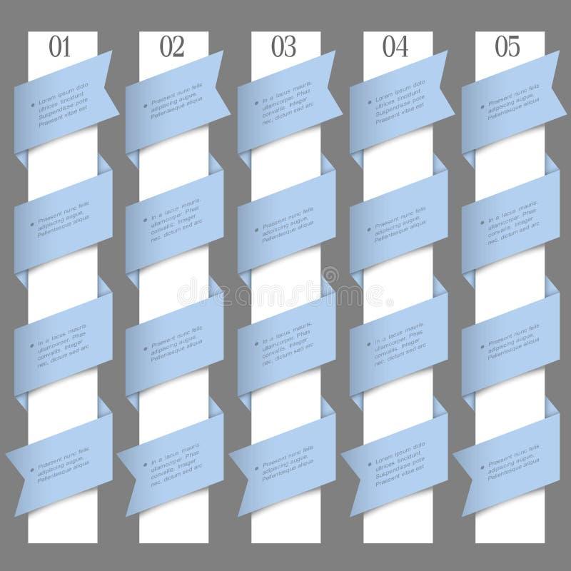 Пронумерованные знамена в типе origami бесплатная иллюстрация