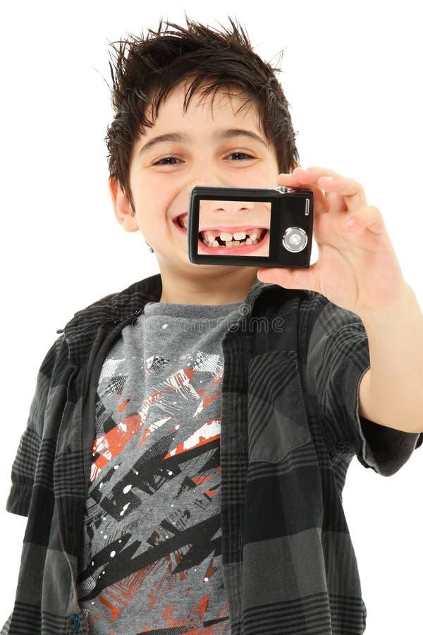 пропавшие зубы собственной личности портрета стоковое фото