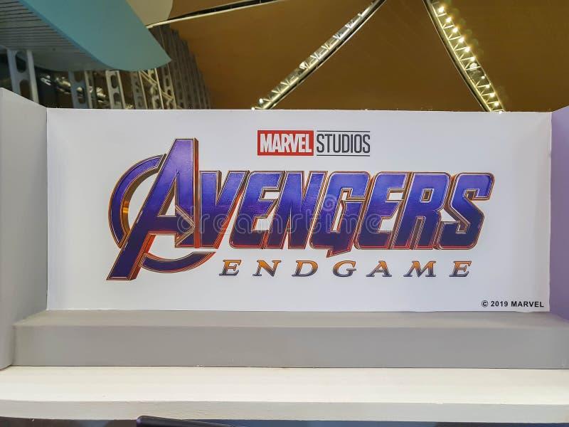 Пропаганда фильмов 'Avengers Endgame' в Куала-Лумпуре, Малайзия стоковые изображения rf