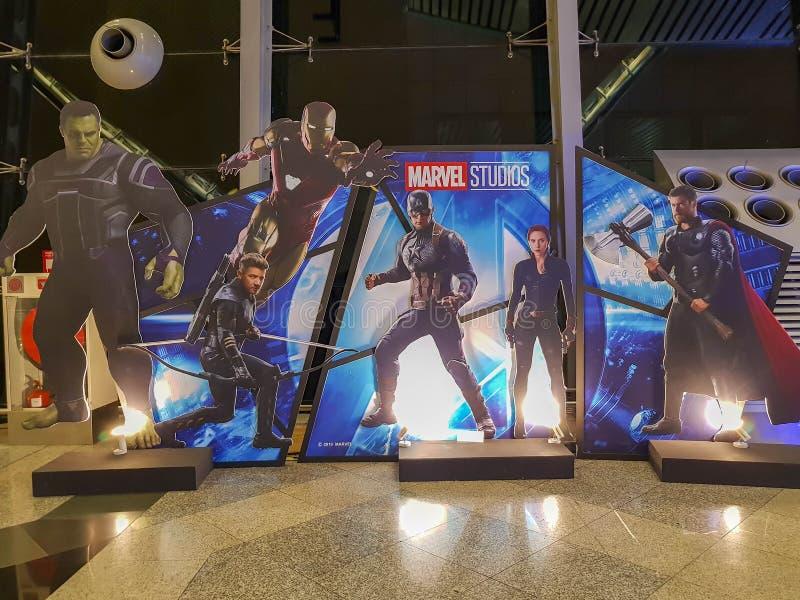 Пропаганда фильмов 'Avengers Endgame' в Куала-Лумпуре, Малайзия стоковое изображение rf