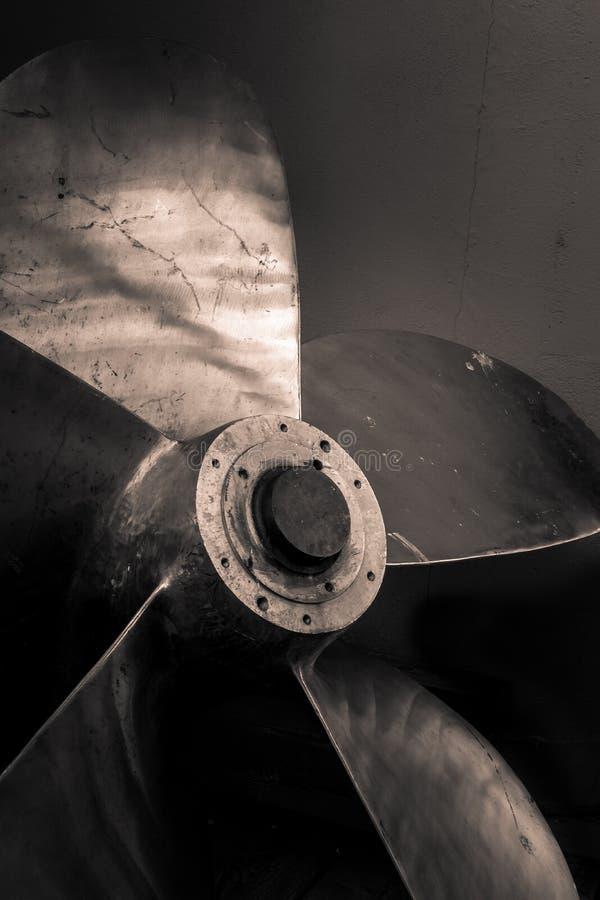 Пропеллер в черно-белом стоковое изображение rf