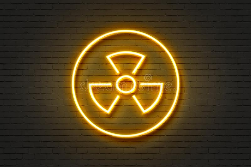 Пропеллер значка неонового света стоковое фото rf
