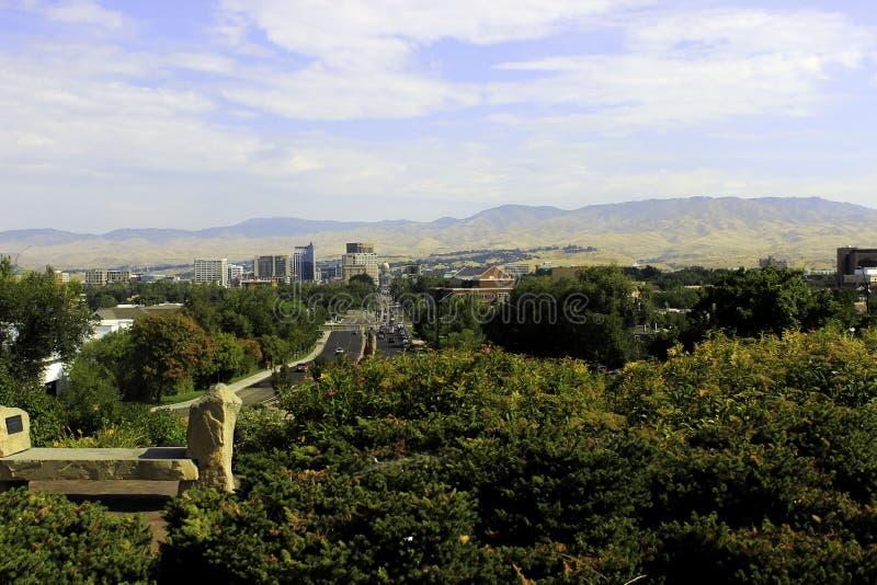 Прописной бульвар, Boise, Айдахо стоковая фотография