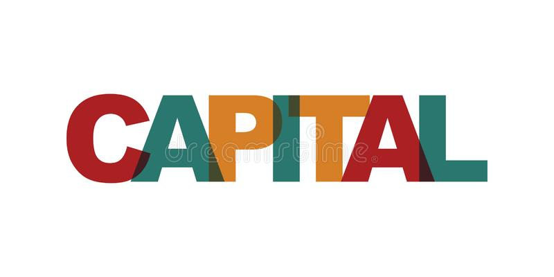Прописной текст визитной карточки Современный помечая буквами плакат Значок лозунга искусства слова цвета бесплатная иллюстрация