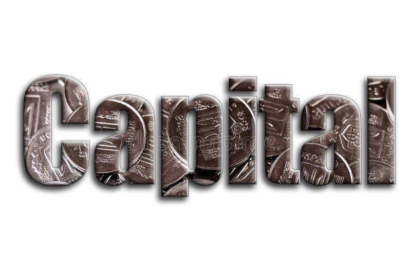 прописно Надпись имеет текстуру фотографии, которая показывает много украинские монетки иллюстрация вектора