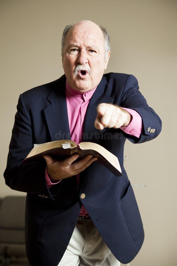 проповедник hellfire brimstone стоковое изображение