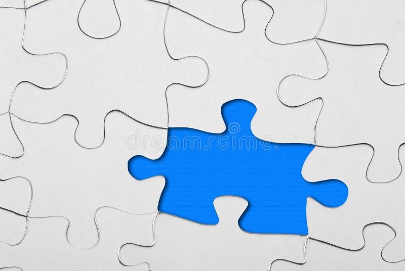 пропускание одной головоломки части стоковые изображения