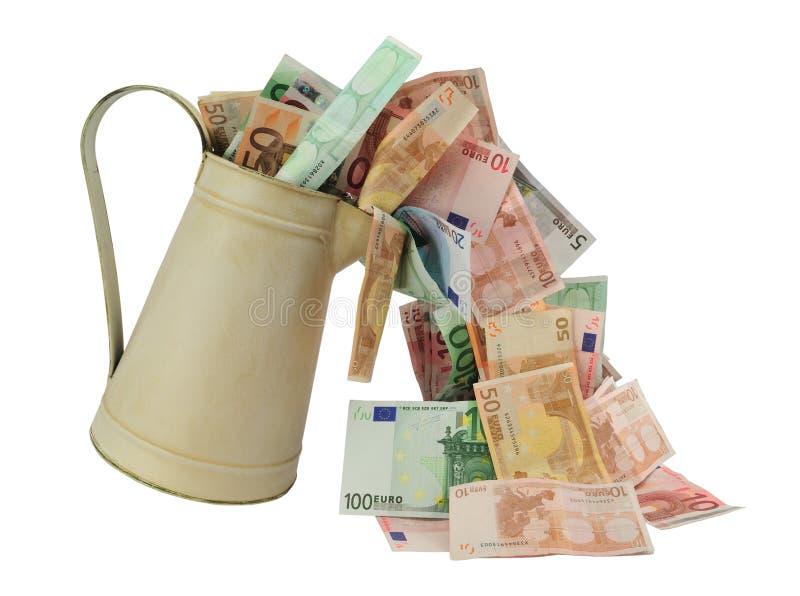пропуская деньги стоковое фото