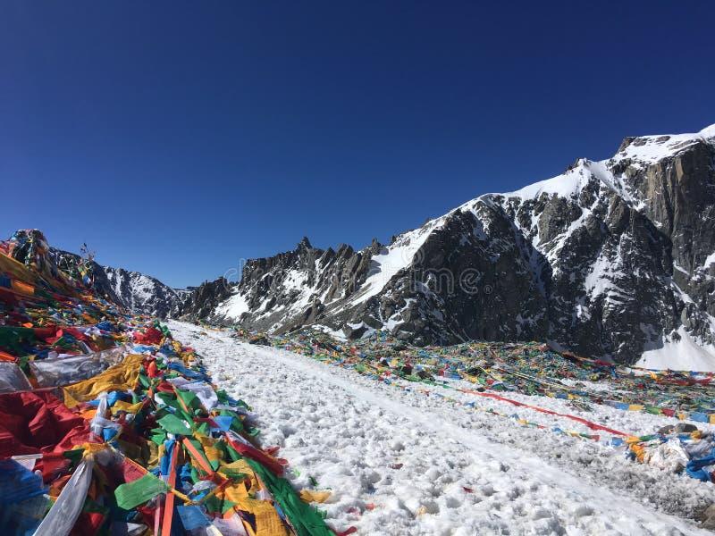 Пропуск Ла Dolma - Mount Kailash Kora весной в Тибете в Китае стоковое изображение rf