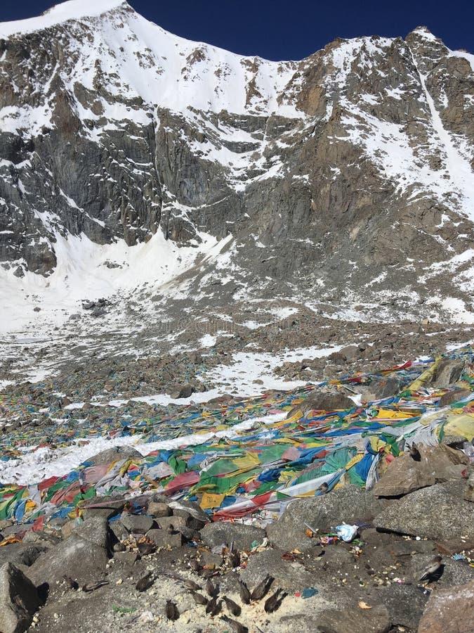 Пропуск Ла Dolma - Mount Kailash Kora весной в Тибете в Китае стоковые изображения rf