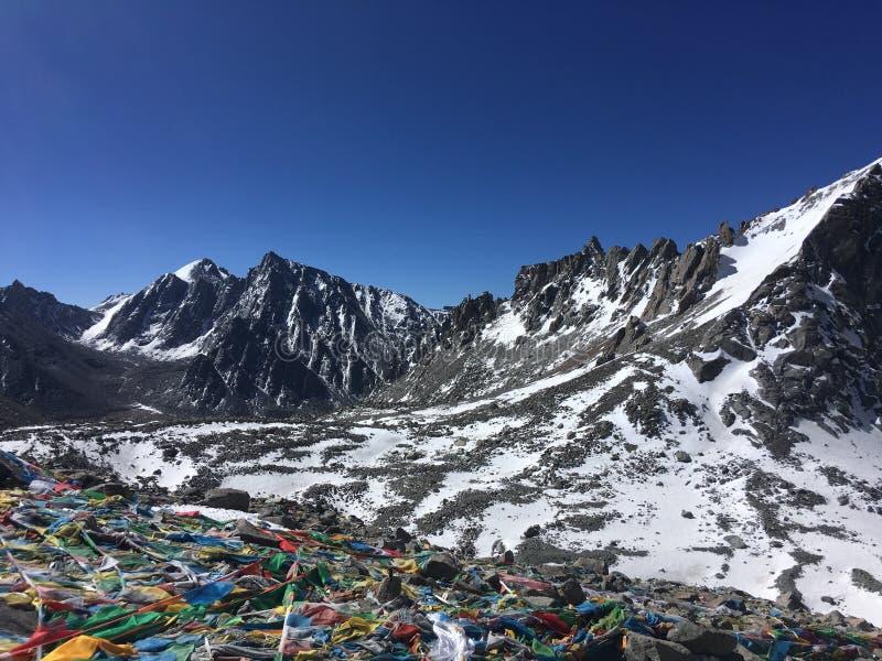Пропуск Ла Dolma - Mount Kailash Kora весной в Тибете в Китае стоковые изображения