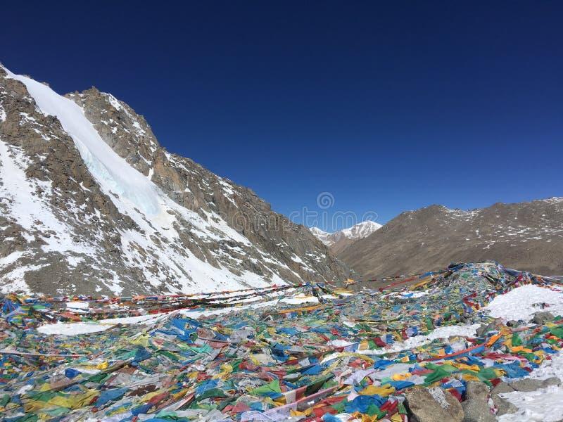 Пропуск Ла Dolma - Mount Kailash Kora весной в Тибете в Китае стоковая фотография rf