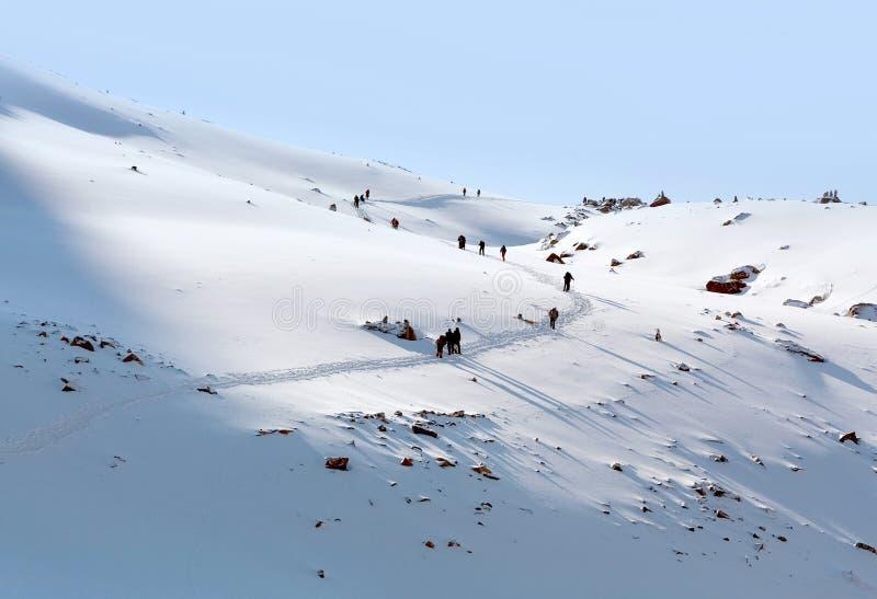 Пропуск Ла Drolma в Ngari, Тибет, Китай стоковые изображения rf