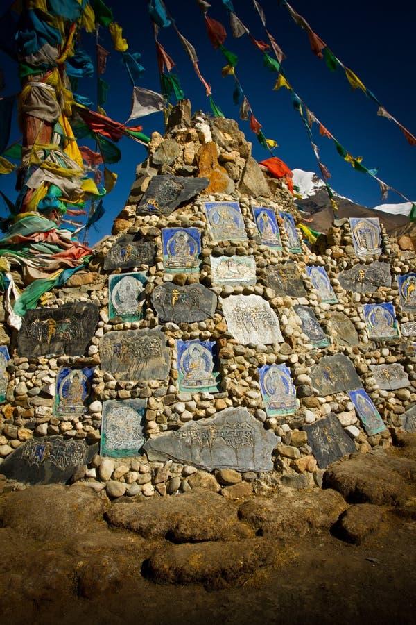 Пропуск Ла Kora и свой ледник Тибета стоковое изображение rf