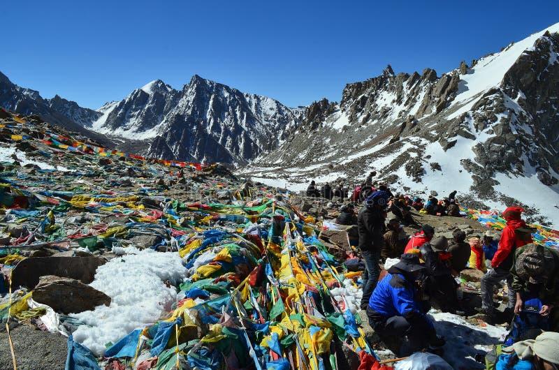 Пропуск Ла Tibet.Drolma. Около Mount Kailash стоковое фото rf