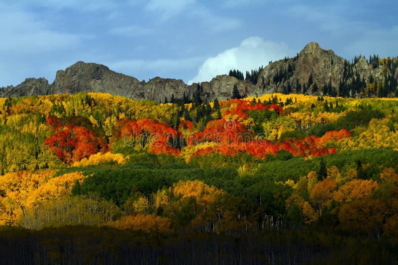 Пропуск Kebler в осень около Vail, Колорадо стоковая фотография rf