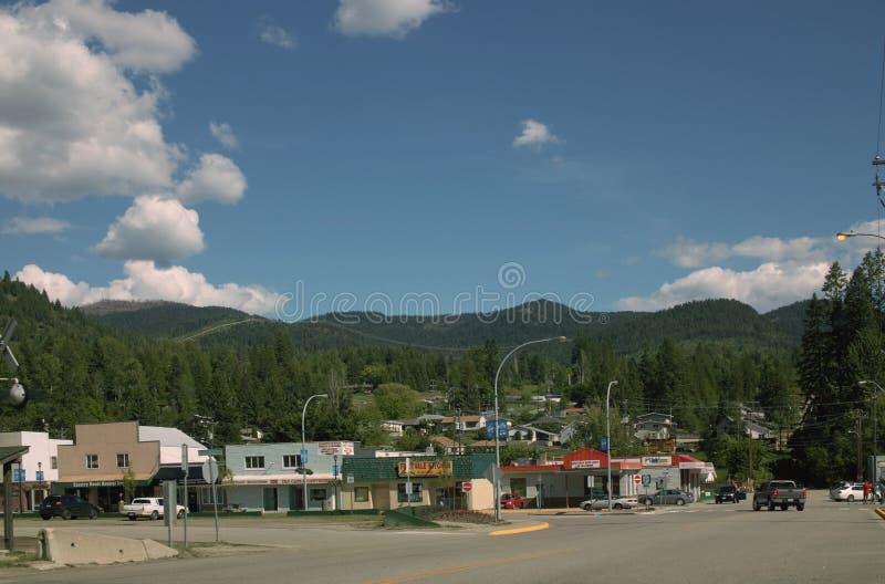 Пропуск Kootenay, горы Selkirk, ДО РОЖДЕСТВА ХРИСТОВА Канада стоковое фото rf