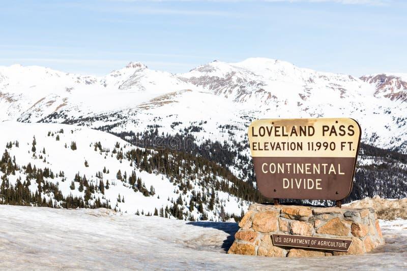 Пропуск Loveland стоковые фотографии rf