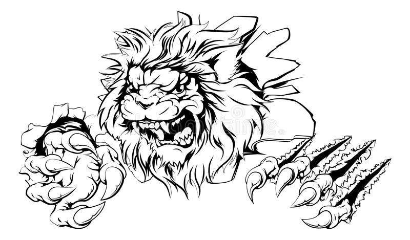 Прорыв когтя льва иллюстрация вектора