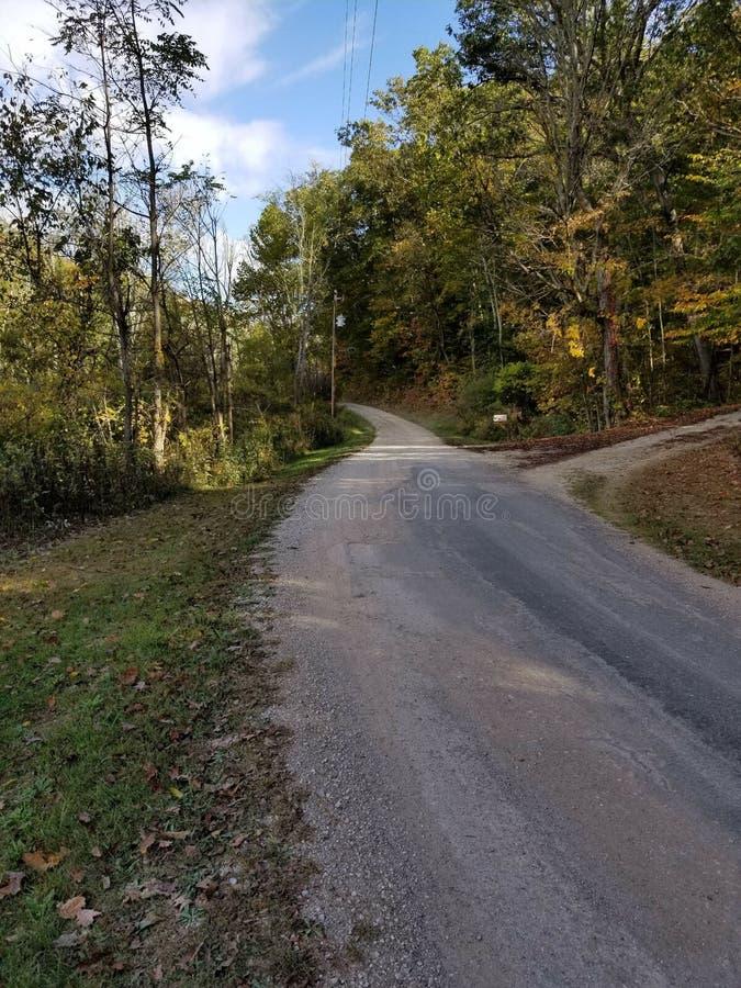 Проселочная дорога в Огайо стоковая фотография rf
