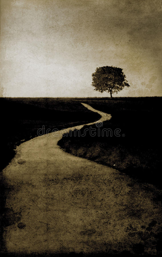 проселочная дорога иллюстрация штока
