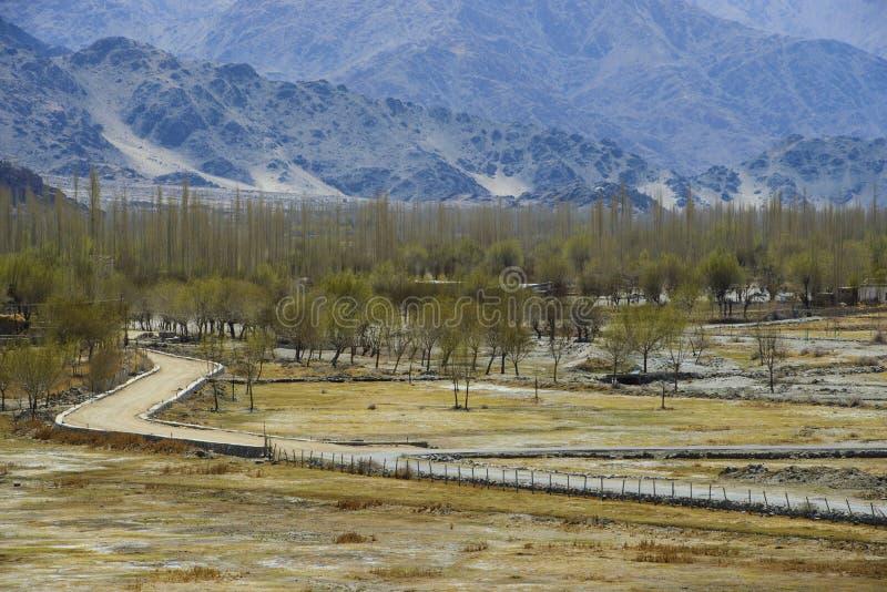 Проселочная дорога на Гималаях стоковые фото