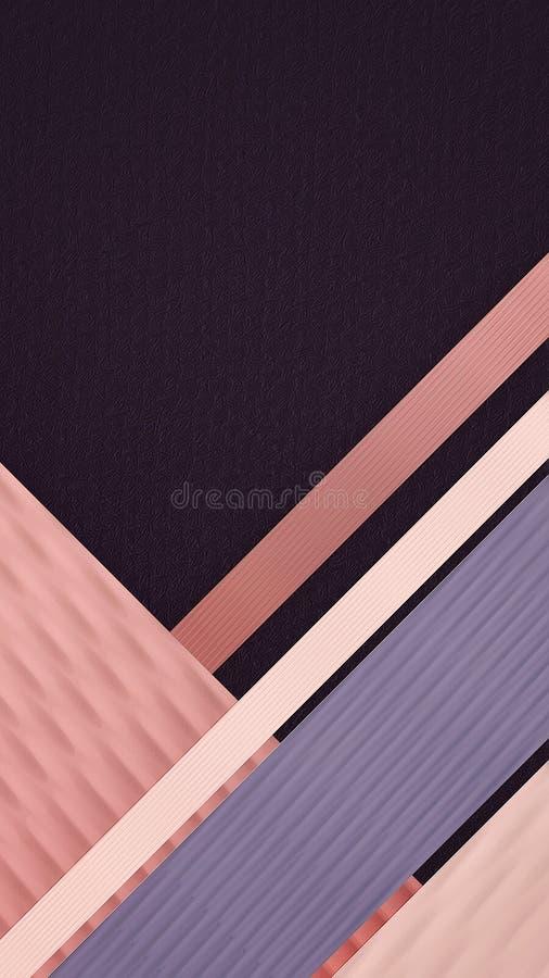 Простая абстрактная striped предпосылка, вертикальная ориентация Место для вашего текста иллюстрация вектора