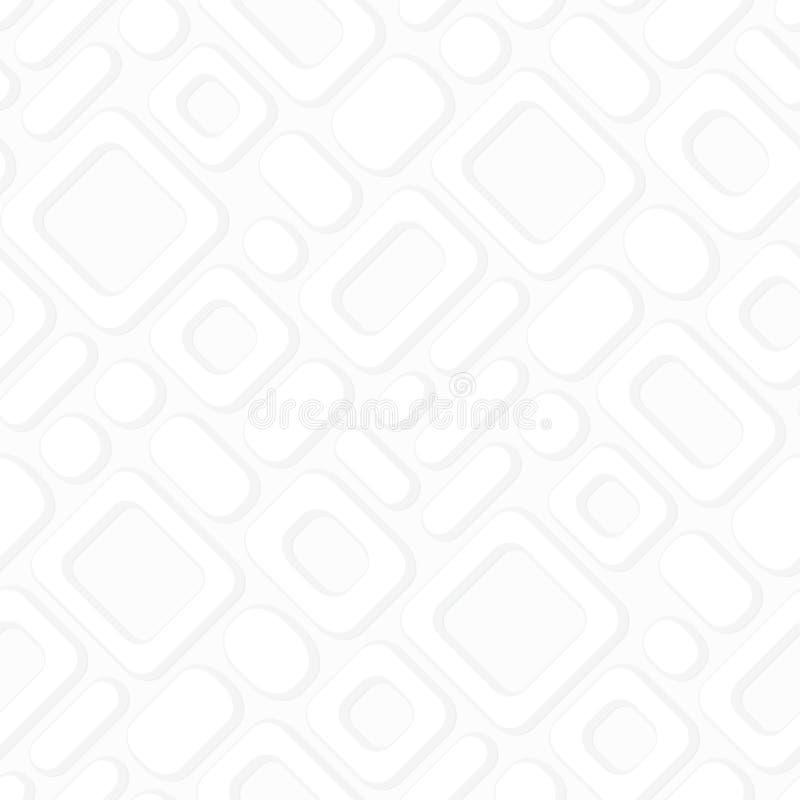 Простая безшовная геометрическая картина вектора - белый конспект рамок иллюстрация вектора
