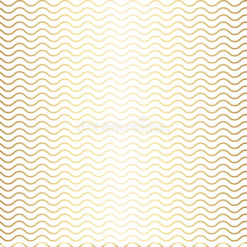 Простая безшовная иллюстрация картины волн красоты Лето, зима, предпосылка времени весны иллюстрация штока