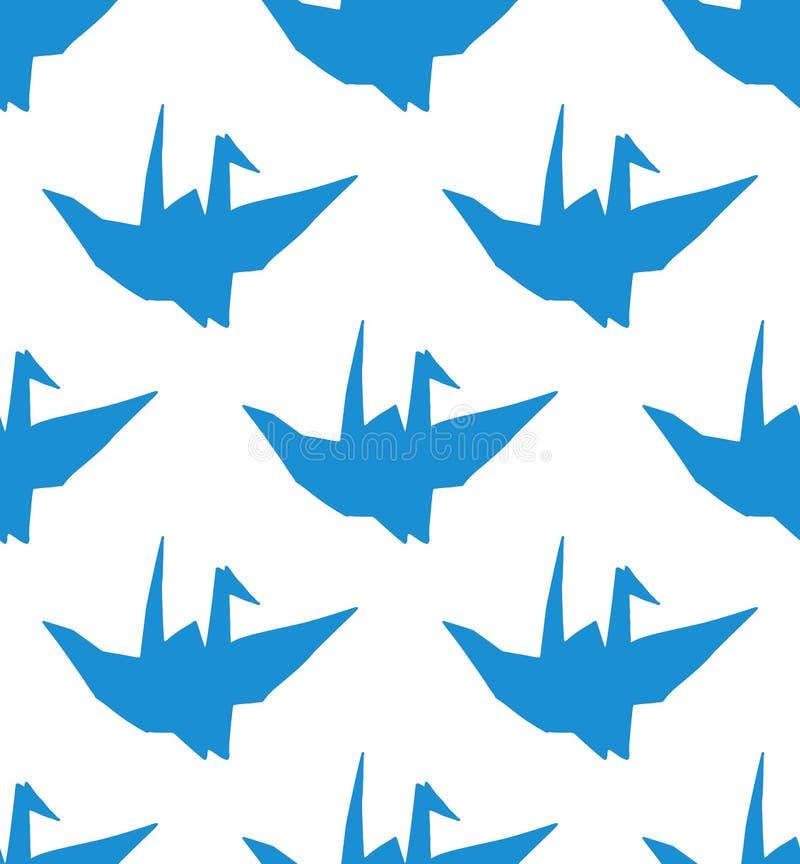 Простая безшовная картина с голубым origami бесплатная иллюстрация