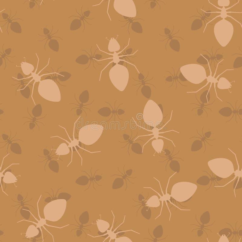 Простая безшовная текстура вектора - муравеи бесплатная иллюстрация