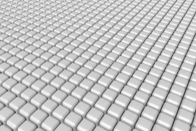 Простая белая предпосылка кубов стоковое фото