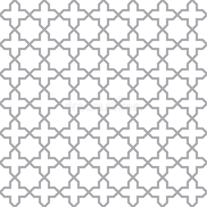 Простая геометрическая безшовная текстура вектора бесплатная иллюстрация