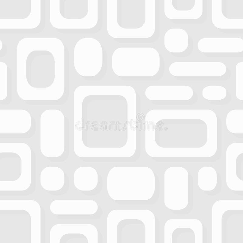 Простая геометрическая картина вектора - белизна обрамляет абстрактный орнамент бесплатная иллюстрация