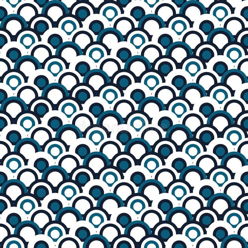 Простая геометрическая японская безшовная картина традиционно Предпосылка к экземпляру без любых швы Текстура волн моря вектора б иллюстрация вектора
