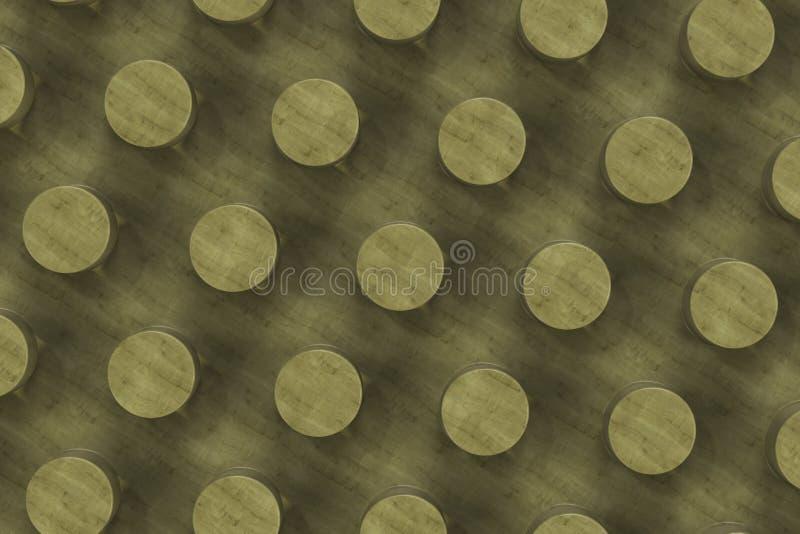 Простая желтая деревянная поверхность с цилиндрами иллюстрация штока
