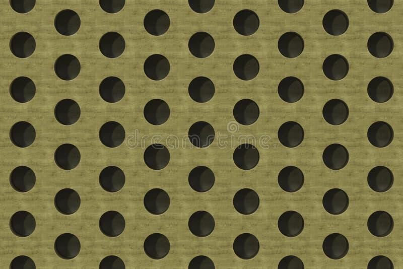 Простая желтая деревянная поверхность с цилиндрическими отверстиями бесплатная иллюстрация