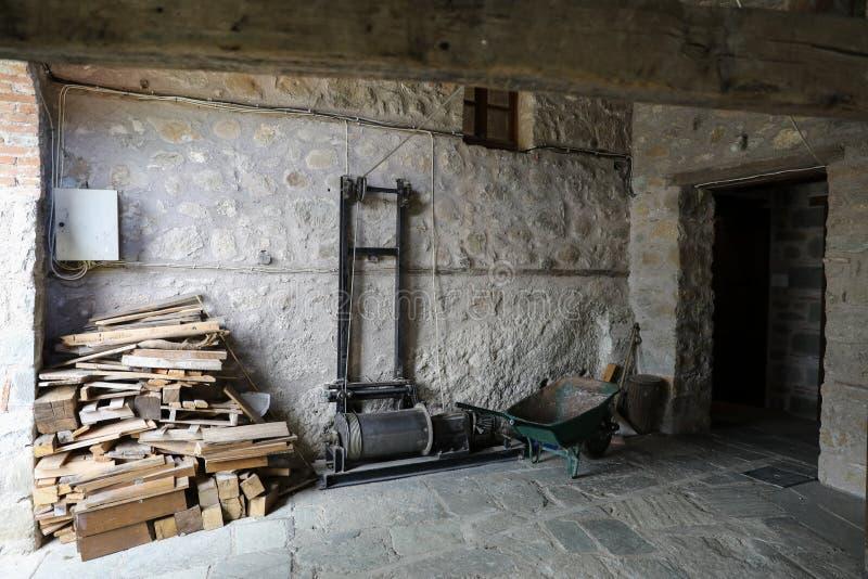 Простая жизнь монахов внутрь монастыря Varlaam от комплекса монастырей Meteora восточного правоверного в Kalabaka, Trikala стоковые изображения