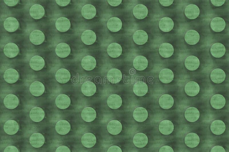Простая зеленая деревянная поверхность с цилиндрами иллюстрация штока