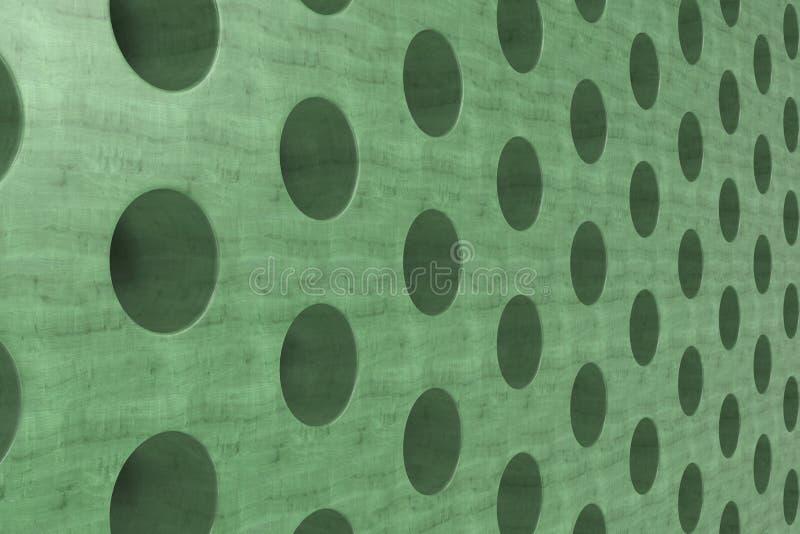 Простая зеленая деревянная поверхность с цилиндрическими отверстиями бесплатная иллюстрация