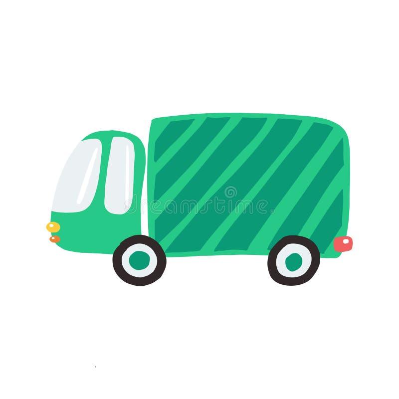 Простая зеленая тележка для печатей стоковые изображения