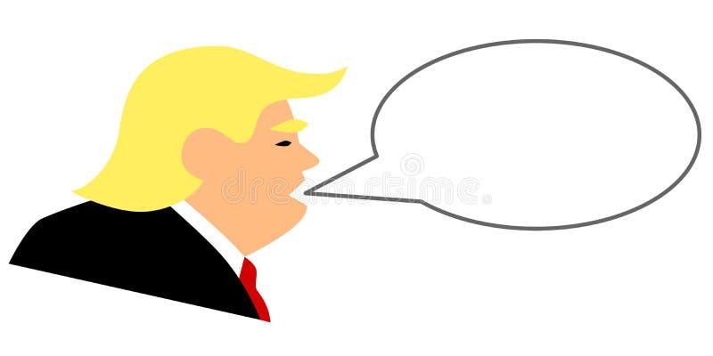 Простая иллюстрация вектора американский кричать президента Дональд Трамп иллюстрация штока