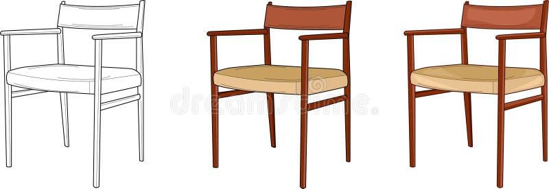 Простая иллюстрация вектора других способов стула 3 иллюстрация вектора
