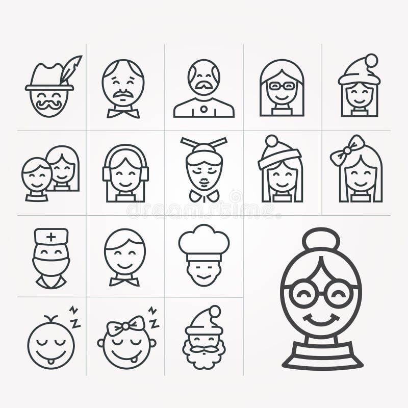 Простая иллюстрация вектора со способностью изменить Значки людей иллюстрация штока